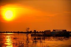 Asian sunset Stock Photo