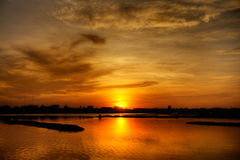 Asian sunset Royalty Free Stock Image