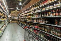 Asian supermarket aisle Royalty Free Stock Photos
