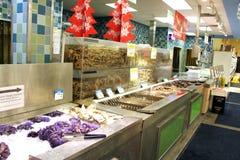 Asian supermarket seafood Royalty Free Stock Image