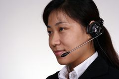 Asian Support Person Royalty Free Stock Images