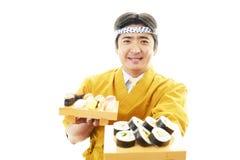 Asian Sushi Chef Royalty Free Stock Photos