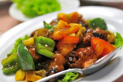 Asian Sweet And Sour Pork Cuisine Stock Photography