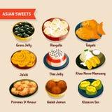 Asian Sweets Set Stock Photo