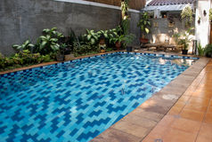 Asian swimming pool Royalty Free Stock Images