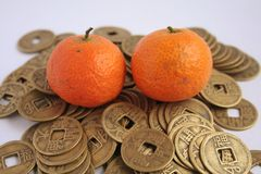 Asian Symbols of Wealth. Popular during chinese new year stock photo