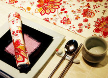 Asian table setting Royalty Free Stock Photos