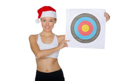 Asian with a target Stock Photography