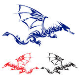 Asian tattoo dragon. Royalty Free Stock Image