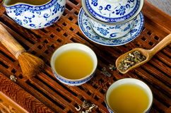 Asian tea background Stock Image