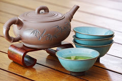 Asian tea set. Royalty Free Stock Photography