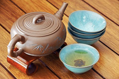 Asian tea set. Royalty Free Stock Images