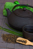 Asian tea set Royalty Free Stock Images