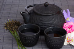 Asian tea set Stock Photos