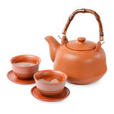 Asian tea set Royalty Free Stock Photos