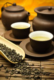 Asian tea set. Royalty Free Stock Photo