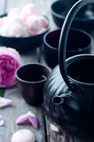 Asian tea set Royalty Free Stock Photo