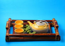 Asian tea set Royalty Free Stock Image