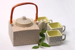 Asian tea set. Served on a white background Stock Photos