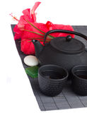Asian tea  and spa set Royalty Free Stock Photography