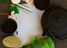 Asian tea and spa set Stock Photo