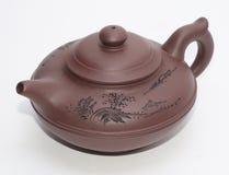 Asian teapot. Isolated on white Royalty Free Stock Photos