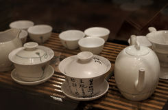 Asian teapot and teacups Royalty Free Stock Photography