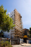 Asian technology of scaffolding made by bamboo Royalty Free Stock Images