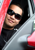 Asian Teen in the Car Royalty Free Stock Photography