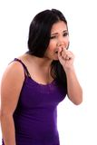 Asian Teen Coughing Stock Photography