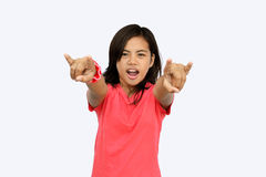 Asian teen supporter Royalty Free Stock Photo