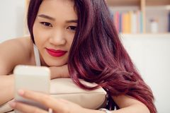 Asian teenage girl Stock Images
