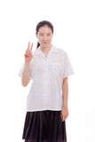 Asian teenage girl high school student Royalty Free Stock Photo