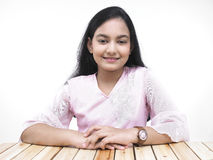 Asian teenage girl of indian origin Stock Photo