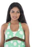 Asian teenage girl white background Stock Photography