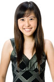 Asian Teenager. A young Asian woman wearing casual clothes on white background Stock Photo