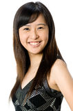Asian Teenager. A young Asian woman wearing casual clothes on white background Stock Images