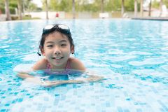 Asian teenager girl with goggles Royalty Free Stock Image