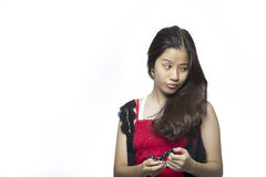 Asian teenager girl Stock Image