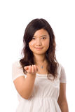 Asian teenager in White Royalty Free Stock Photography