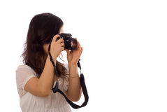 Asian teenager in White Stock Image
