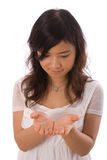 Asian teenager in White Royalty Free Stock Images