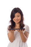 Asian teenager in White Royalty Free Stock Photo