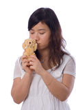 Asian teenager in White Royalty Free Stock Image
