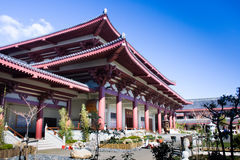 Asian temple. In Auckland, New Zealand stock photo
