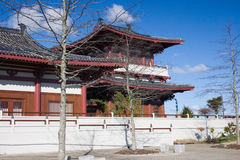 Asian temple. In Auckland, New Zealand royalty free stock photo