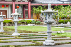 Asian temple. In Auckland, New Zealand stock images