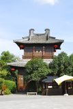 Asian temple. A pagoda like temple in a theme park in China Royalty Free Stock Photography