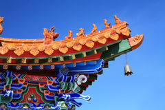 Asian temple with the blue sky Royalty Free Stock Photography
