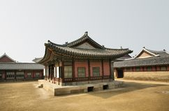 Asian Temple in Center Stock Photography
